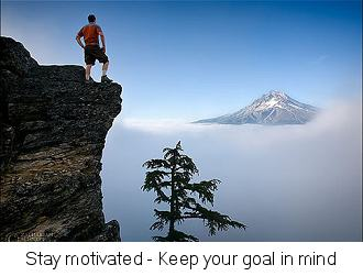 you need to stay motivated to lose weight.