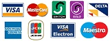 All major credit and debit cards are taken