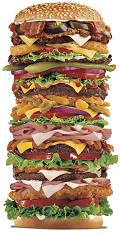 saturated fat in burger