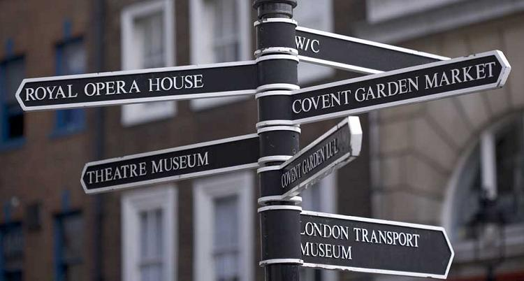 Covent Garden sign post